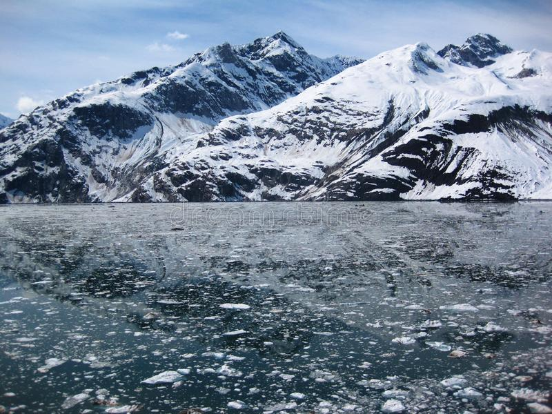 Alaska glacier. Spectacular view of Alaska glacier stock photography