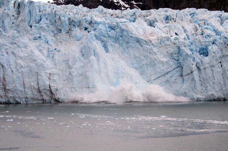 Alaska-Gletscher-Kalben stockfoto