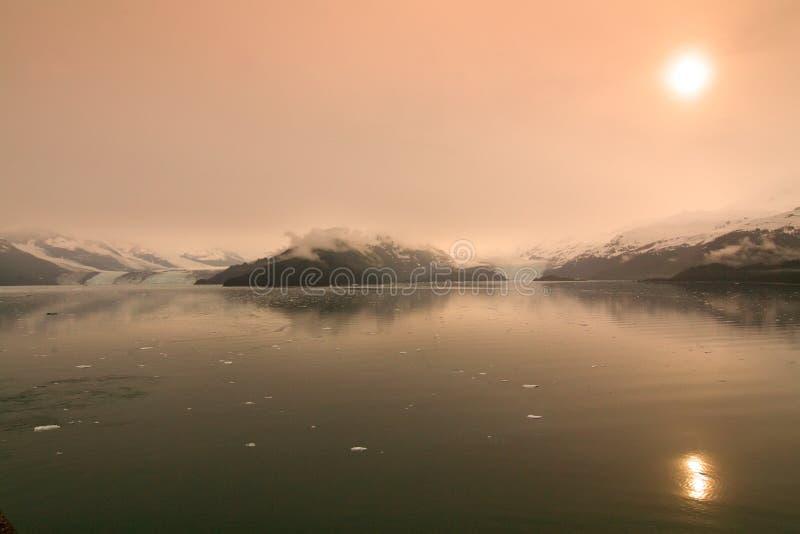 alaska högskolafjord arkivbild