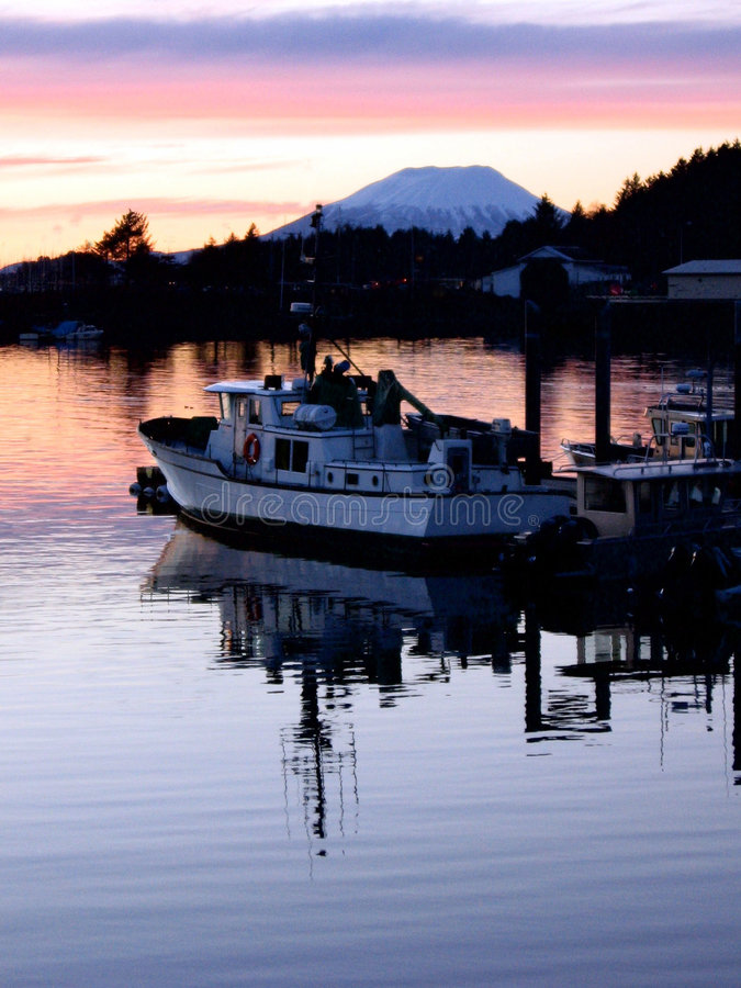 Alaska-Hafen stockbild