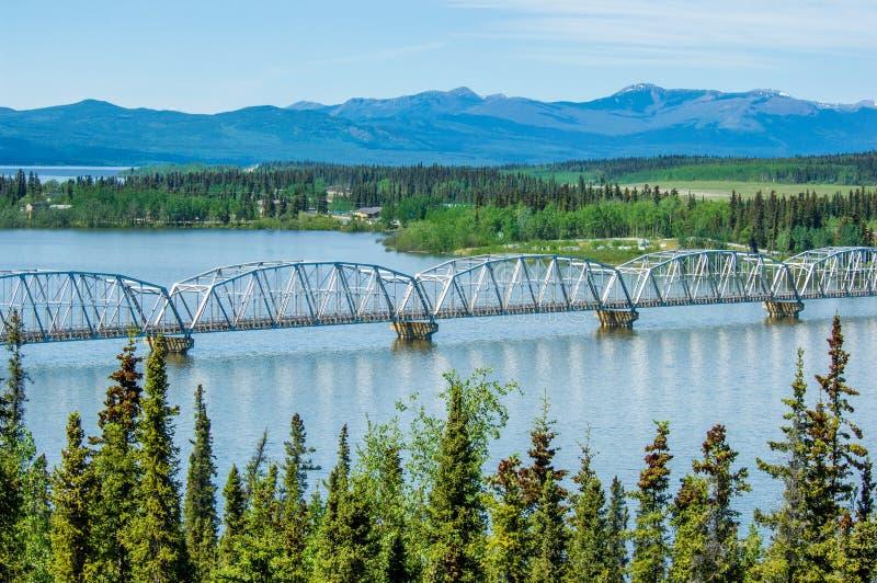 Alaska Highway bridge royalty free stock photography
