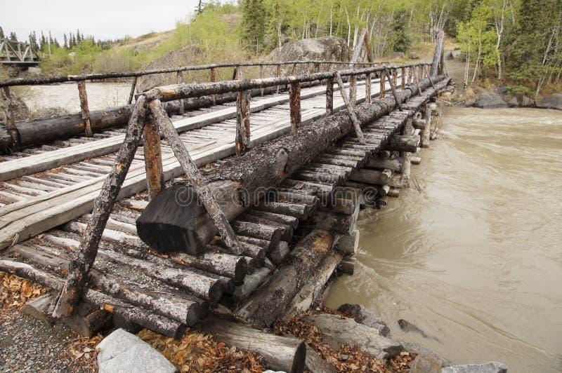 Download Alaska Highway River Wooden Bridge Stock Image - Image of green, wooden: 51717503