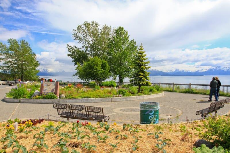 Alaska - Homer Baycrest förbiser vilar område royaltyfri fotografi