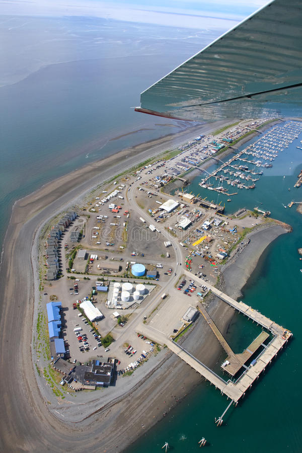 Alaska - homer mierzei widok z lotu ptaka obrazy royalty free