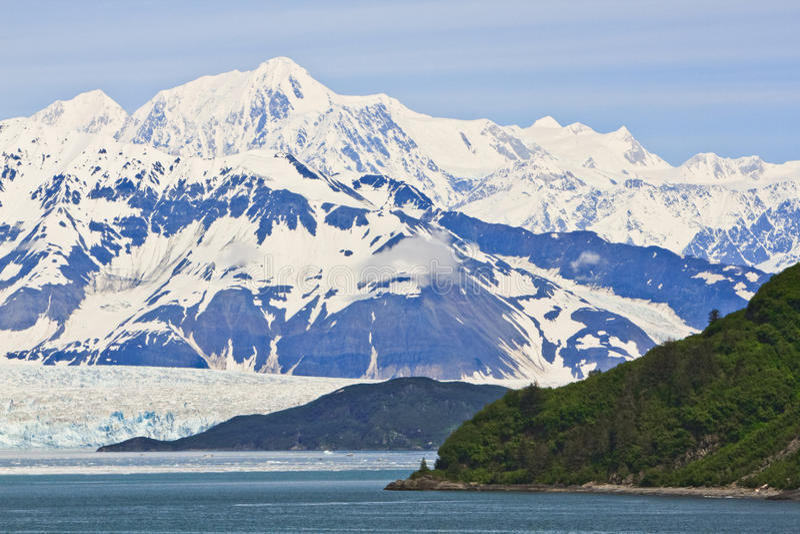 Download Alaska Hubbard Glacier And Mountain Vista Stock Image - Image: 28777073
