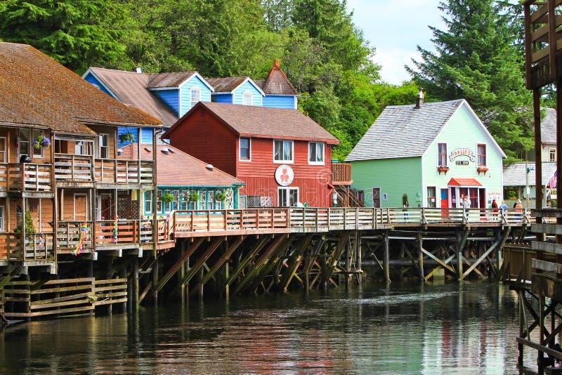 Alaska - Huis van Dollys van de Straat van de Kreek, Winkelende 2 royalty-vrije stock fotografie