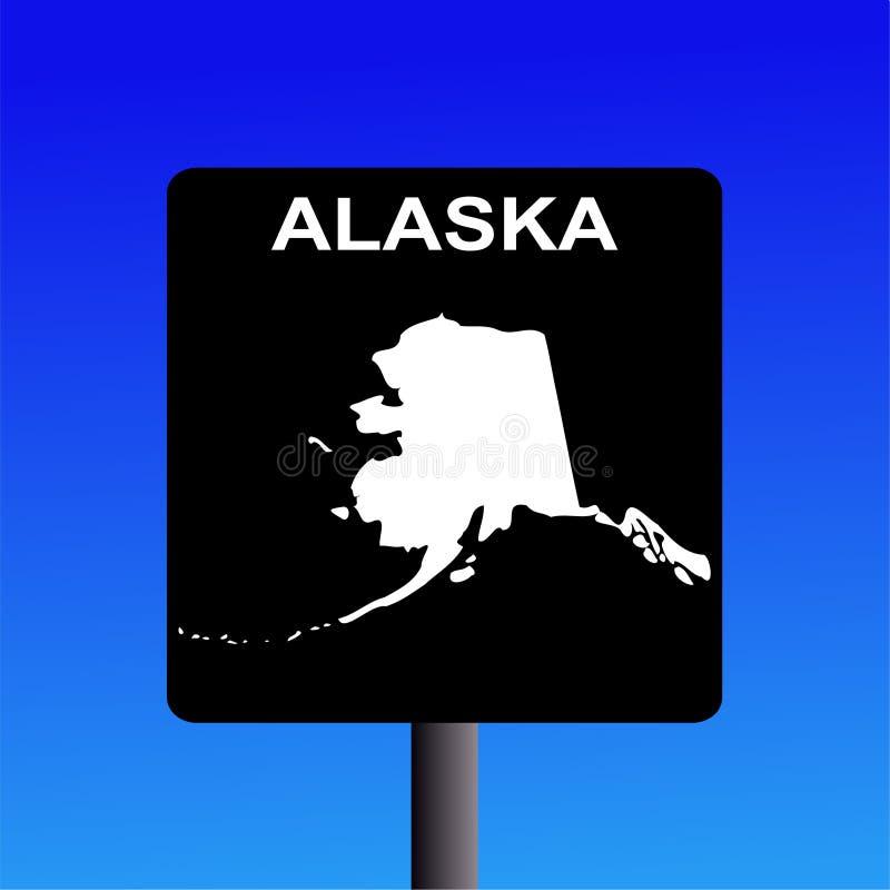alaska huvudvägtecken vektor illustrationer