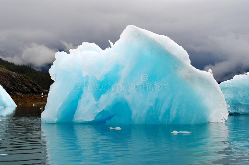 Alaska Ice. A natural ice sculpture in Prince William Sound, Alaska royalty free stock photos