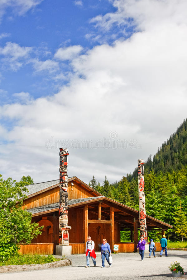 Alaska Icy Strait Point Cultural Center stock photography