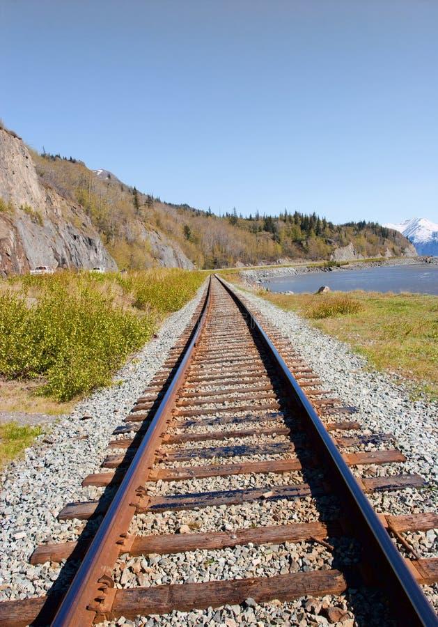 alaska järnväg royaltyfria foton