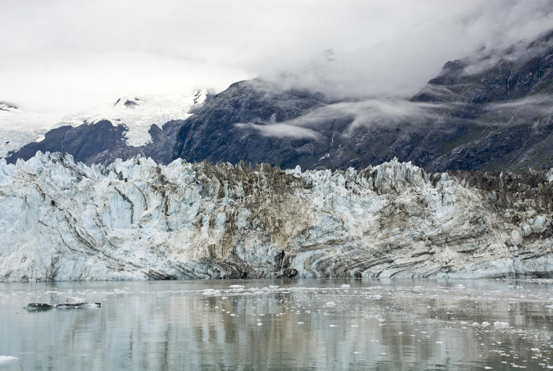 Alaska - Johns Hopkins Glacier. USA Alaska, Glacier Bay National Park and Preserve, UNESCO - World Heritage site, UNESCO - World Biosphere Reserve, Johns Hopkins stock photo