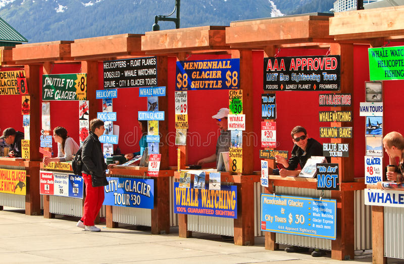 Alaska - Juneau Cruise Tour Vendor Booths stock photos