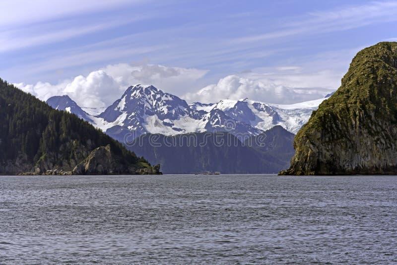alaska kryssning nära seward arkivfoto