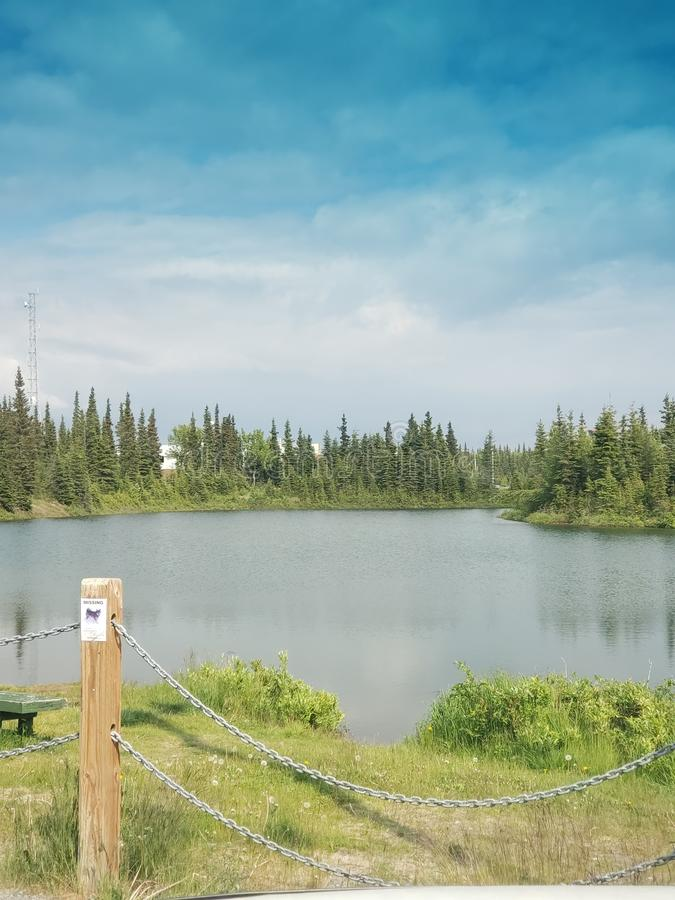 Alaska& x27; lago de s imagen de archivo libre de regalías