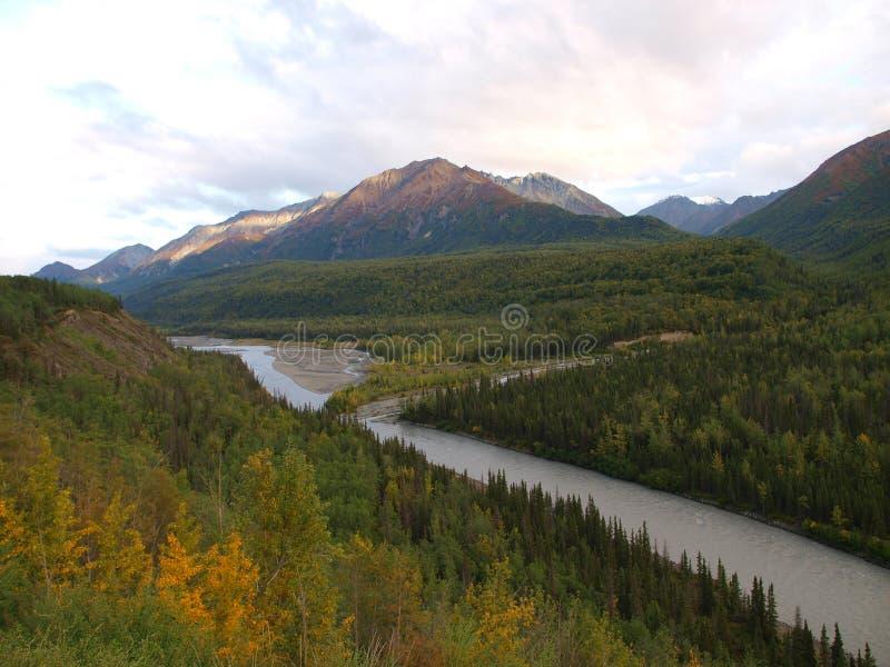 Alaska landscape scenery stock photography