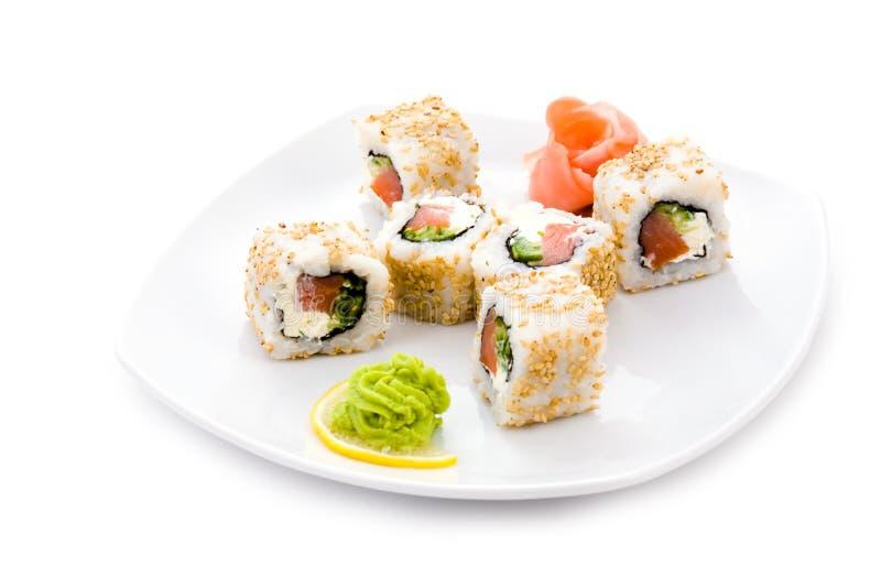 Download Alaska maki stock photo. Image of cuisine, plate, rolls - 12819020