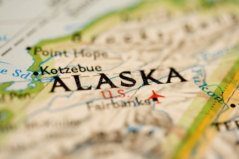 Alaska Map stock image