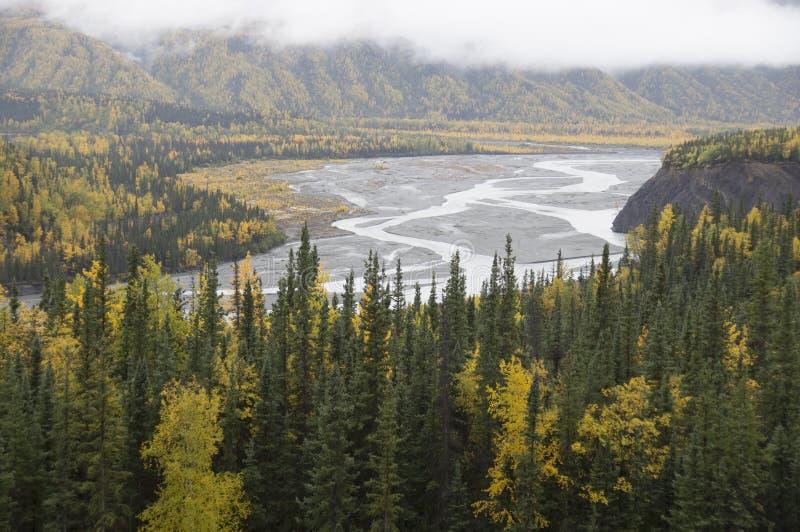 Download Alaska Matanuska Valley River Fall Trees Stock Image - Image of above, valley: 53814307