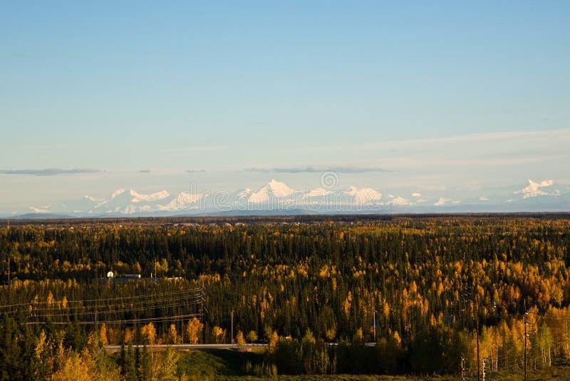 The Alaska Range in Autumn stock photography