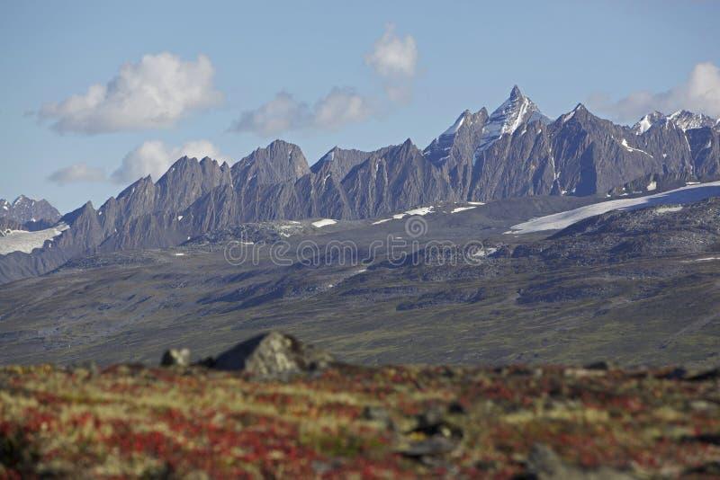 Alaska mounteins nähern sich Valdez stockfotos