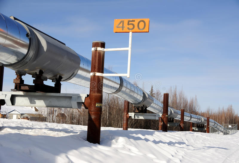 Alaska Oil Pipeline royalty free stock image