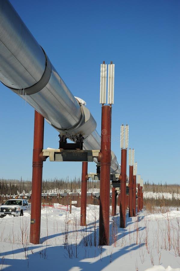 Alaska oil pipeline royalty free stock photo