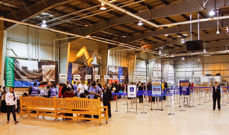 Alaska Passengers Inside Seward Cruise Ship Terminal