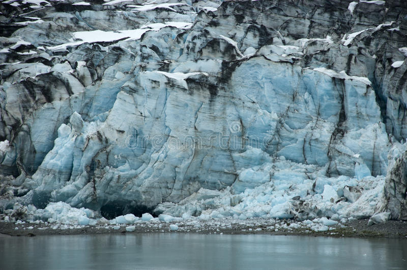 alaska podpalana błękitny zbliżenia szczegółu lodowa lodu scena obraz stock