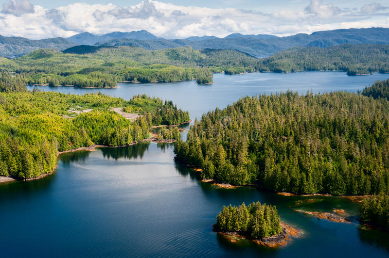 Alaska Prince of Wales island aerial view royalty free stock photo