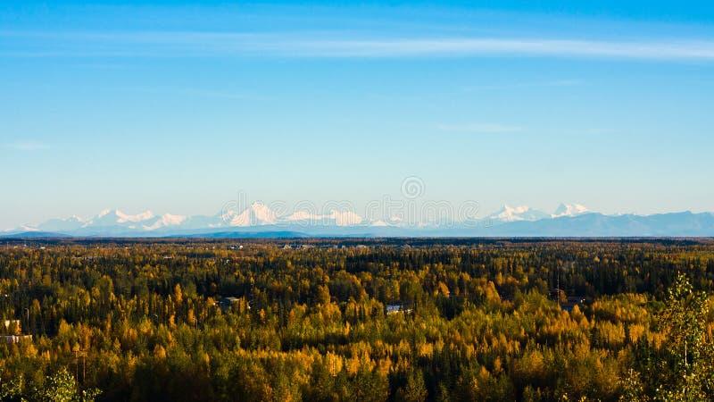 Alaska Range in Fall royalty free stock image