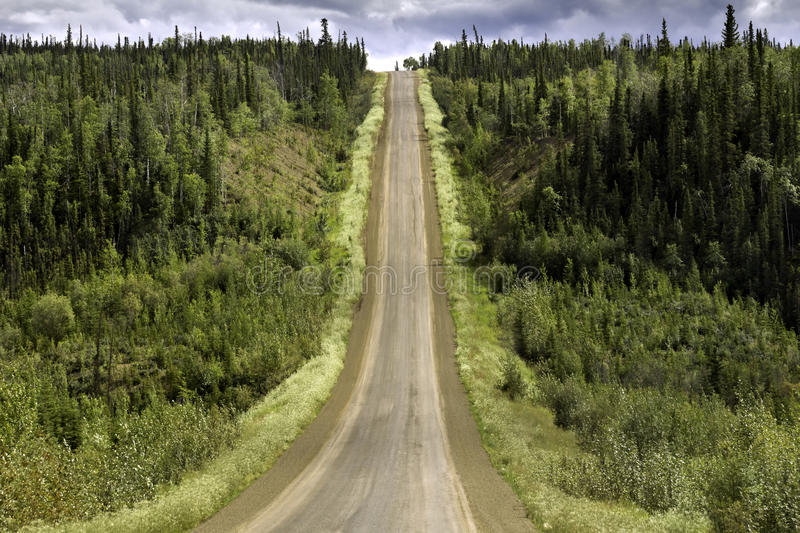 Alaska, road from Fairbanks to Arctic Circle stock image