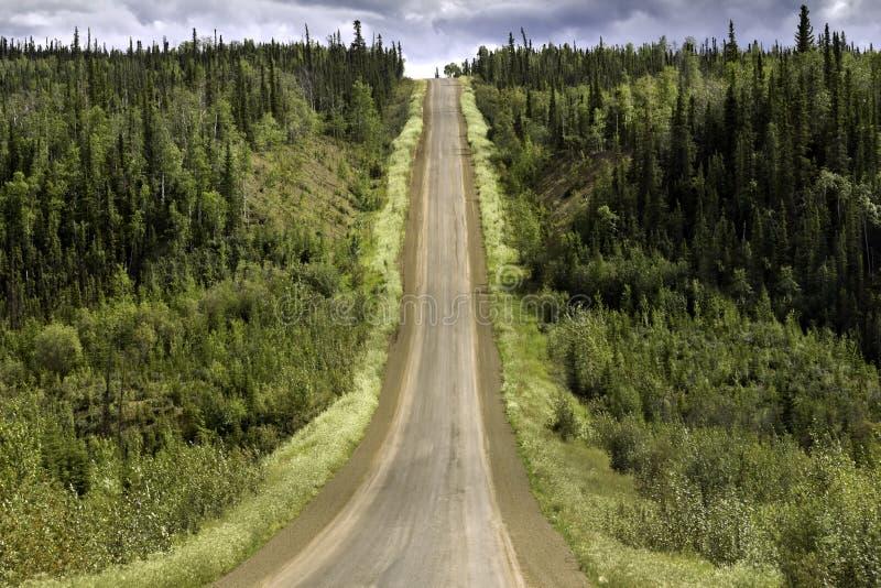 Alaska, rosd de Fairbanks al Círculo Polar Ártico imagen de archivo
