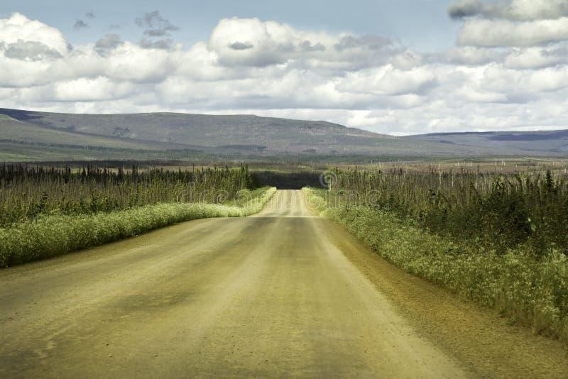 Alaska, rosd de Fairbanks ao círculo ártico imagem de stock royalty free