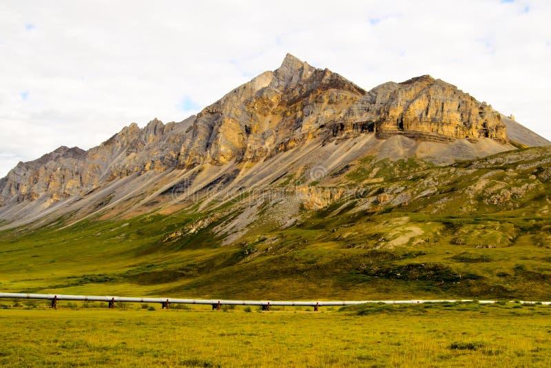 Alaska rurociąg naftowy obrazy stock