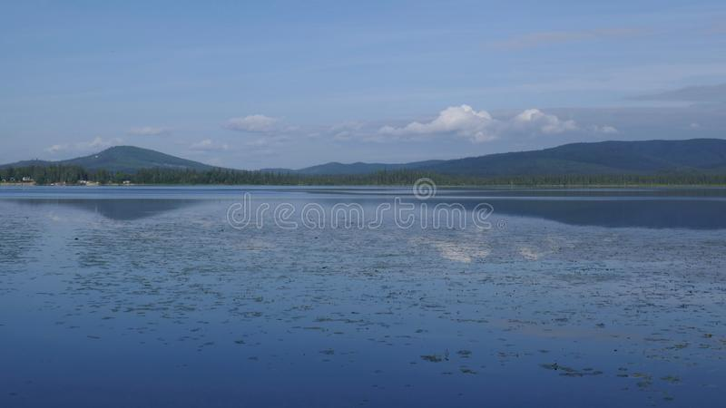 Alaska`s Birch Lake stock photography