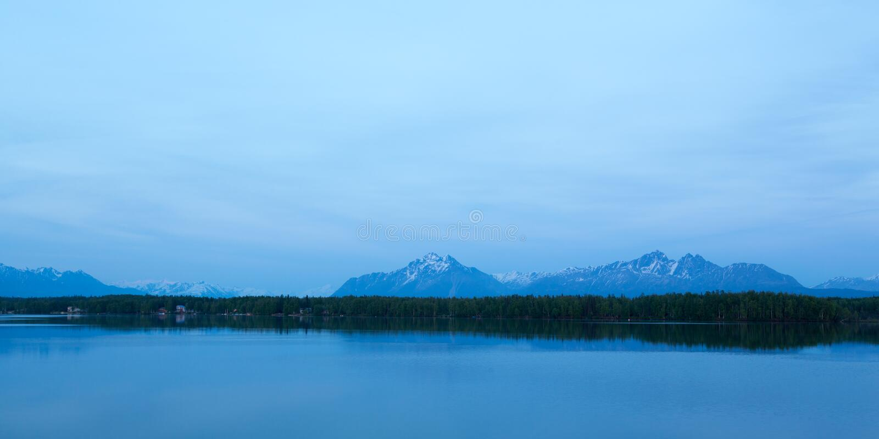 Alaska's Mountains royalty free stock photography