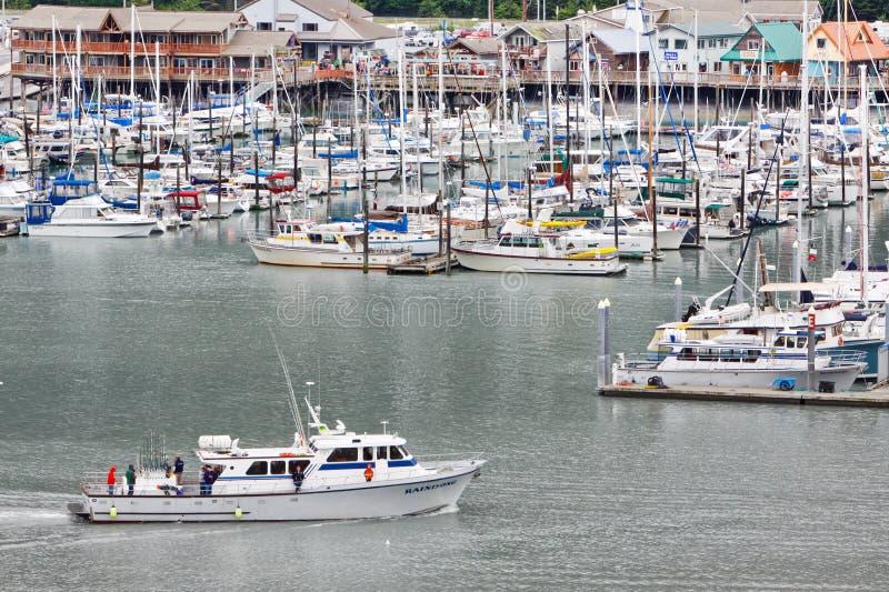 Alaska Seward Fishing Chater Boat Returns royalty free stock photography