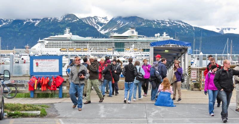Alaska Seward Kenai Fjords Tours Passengers stock images