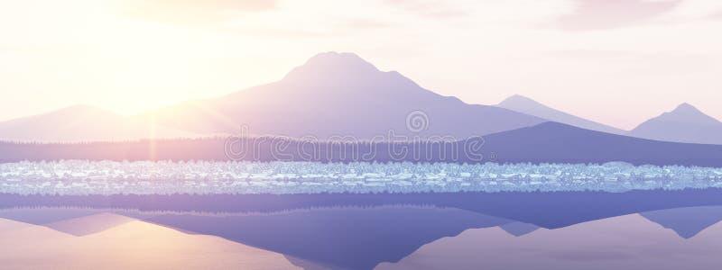 Alaska-Sonnenaufgang lizenzfreie abbildung