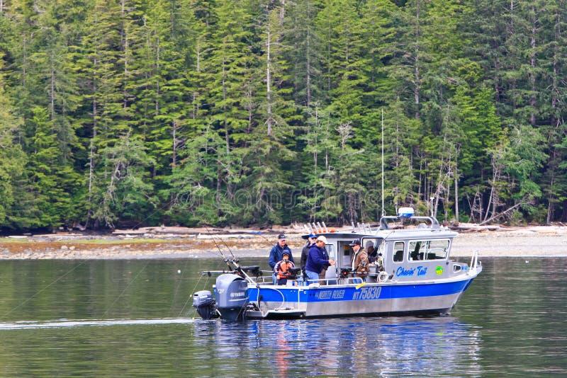 Alaska statusu Łososiowa łódź rybacka Ketchikan fotografia stock