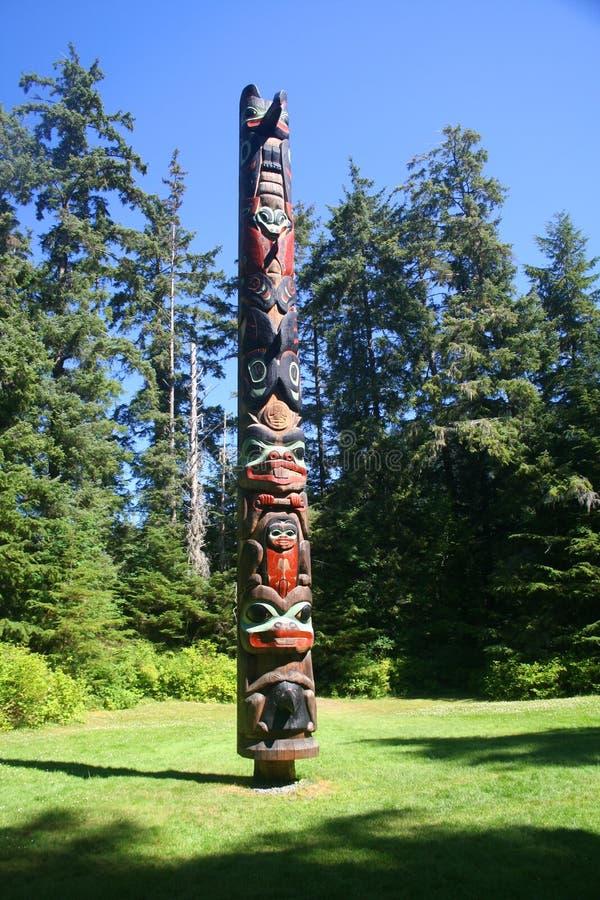 Alaska Totem Pole stock photos