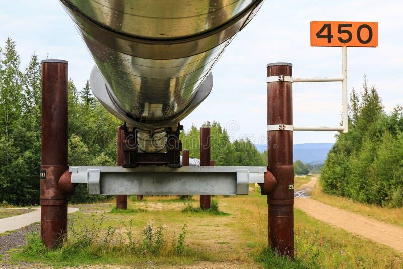 Alaska - Trans.-Alaska rörledningservice fotografering för bildbyråer