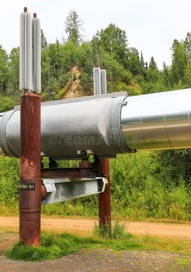 Alaska- - Trans-Alaska-Rohrleitungs-Fördersystem lizenzfreie stockfotografie