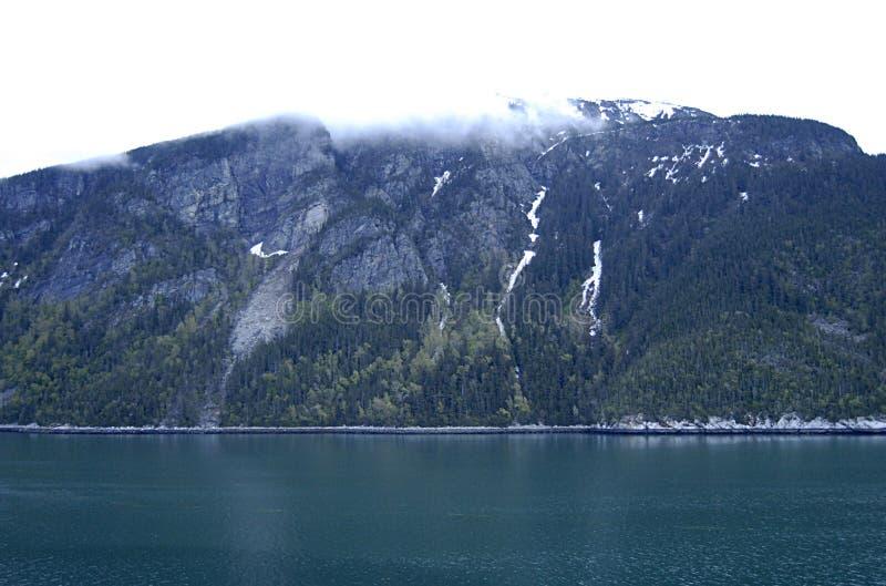 ALASKA/USA _GLACIER BAY_MOUNTIANS I USA royaltyfri bild