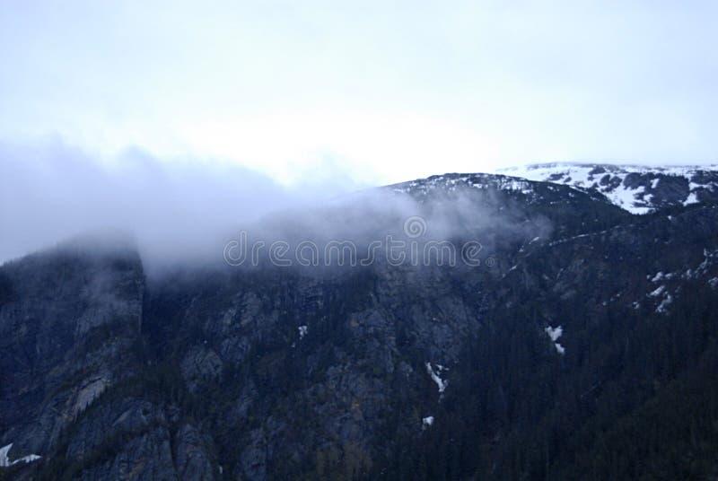 ALASKA/USA _GLACIER BAY_MOUNTIANS I USA arkivfoto