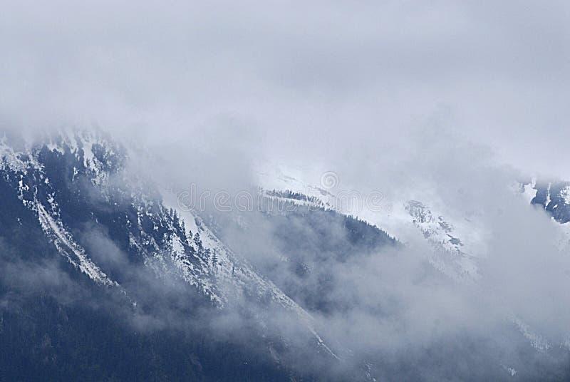 ALASKA/USA _SKAGWAY MOUTIANS in de V.S. stock fotografie