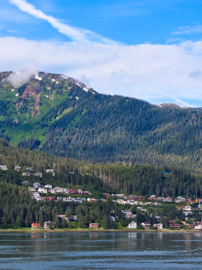 Download Alaska - West Juneau Homes editorial photo. Image of commercial - 28853166