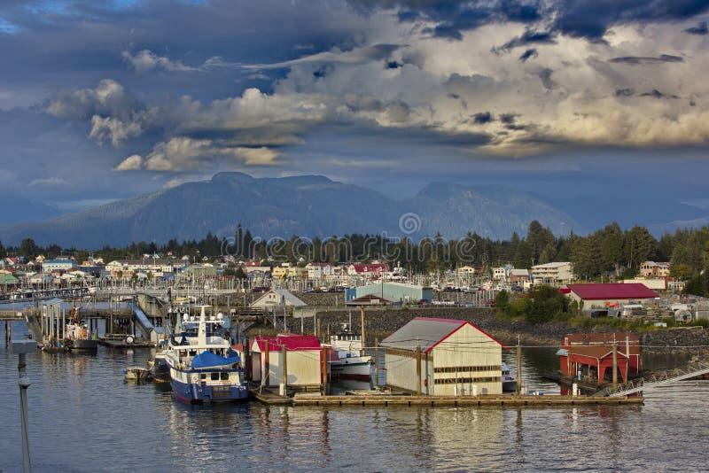 Alaska wioska Petersburg obrazy stock