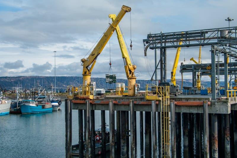 Alaska wysyłki dok zdjęcia stock