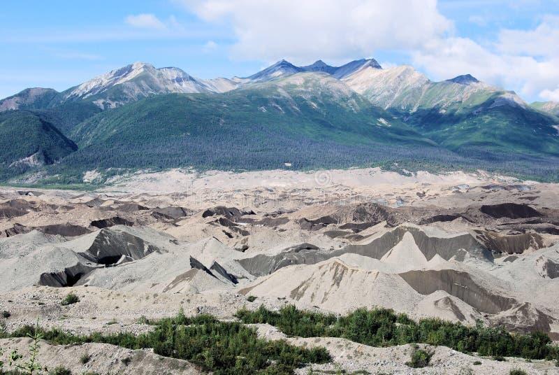 Alaska - zand-behandelde gletsjer - Wrangell St Elias National Park royalty-vrije stock fotografie